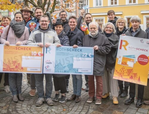 Die ROTHSCHECKs – der Erfolg geht weiter. Viele Neuigkeiten rund um die Gutscheine der Kreis-Metropole Roth e.V. (KMRH)